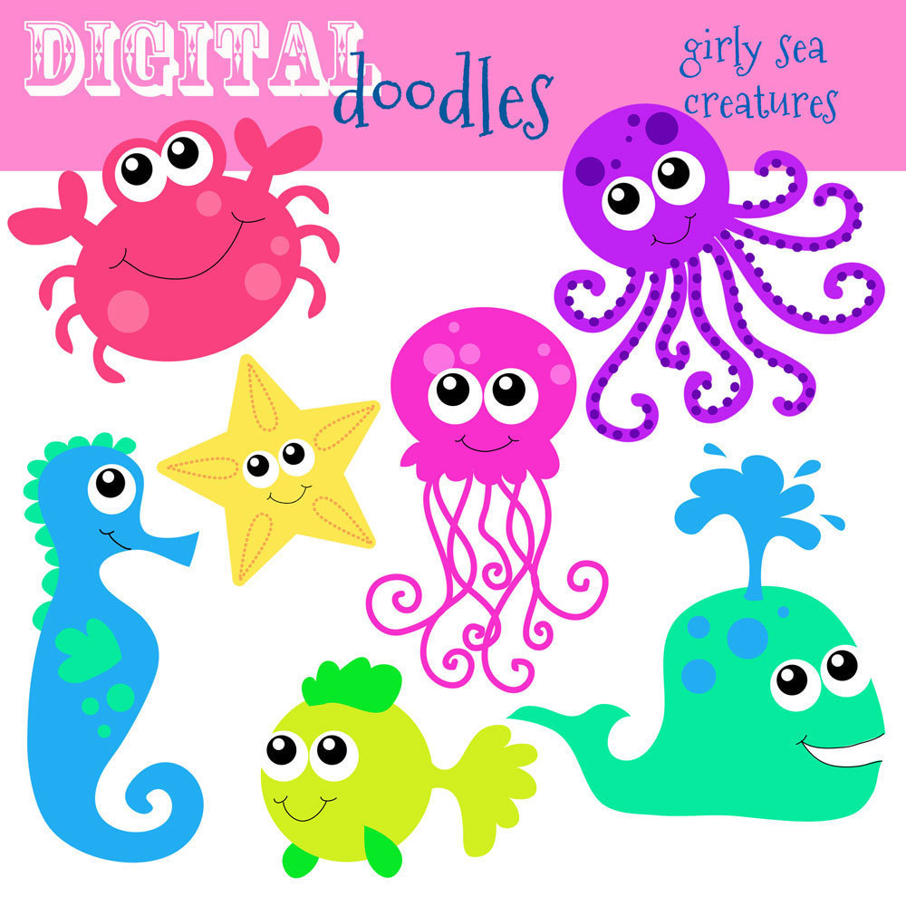 Cute Sea Animals Clip Art Clipart   Free Clipart