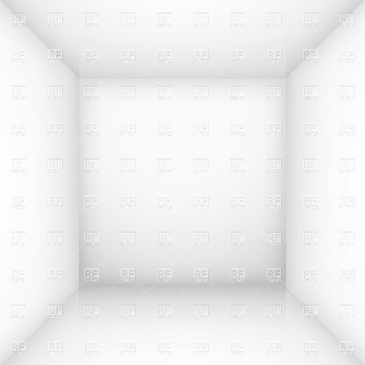Empty White Box  Room  Download Royalty Free Vector Clipart  Eps