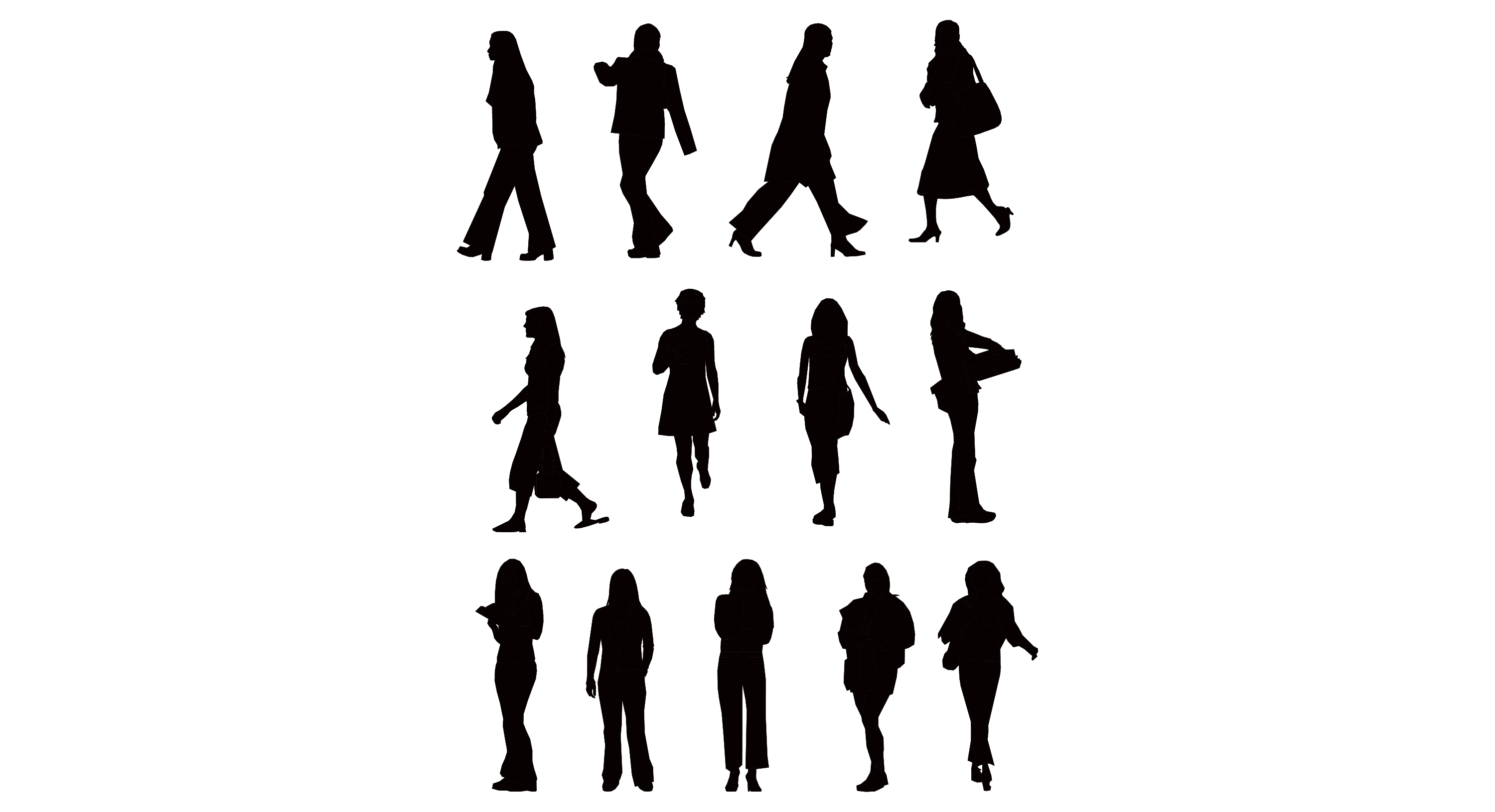 Free Vector People Silhouettes 15    Clipart Best   Clipart Best