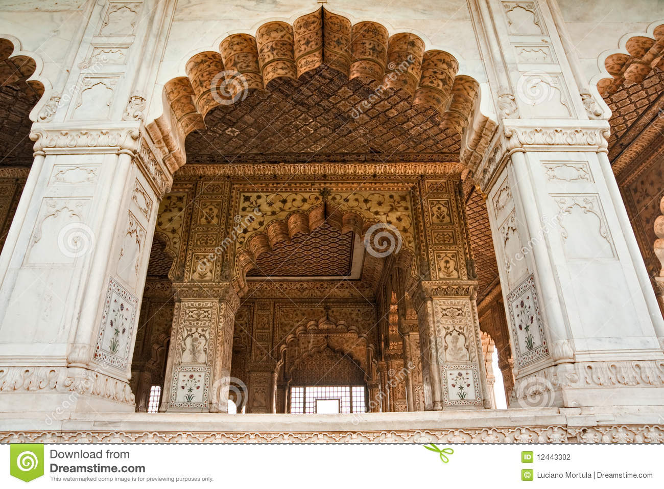 Hall Of Audience Red Fort Old Delhi India  Stock Photography