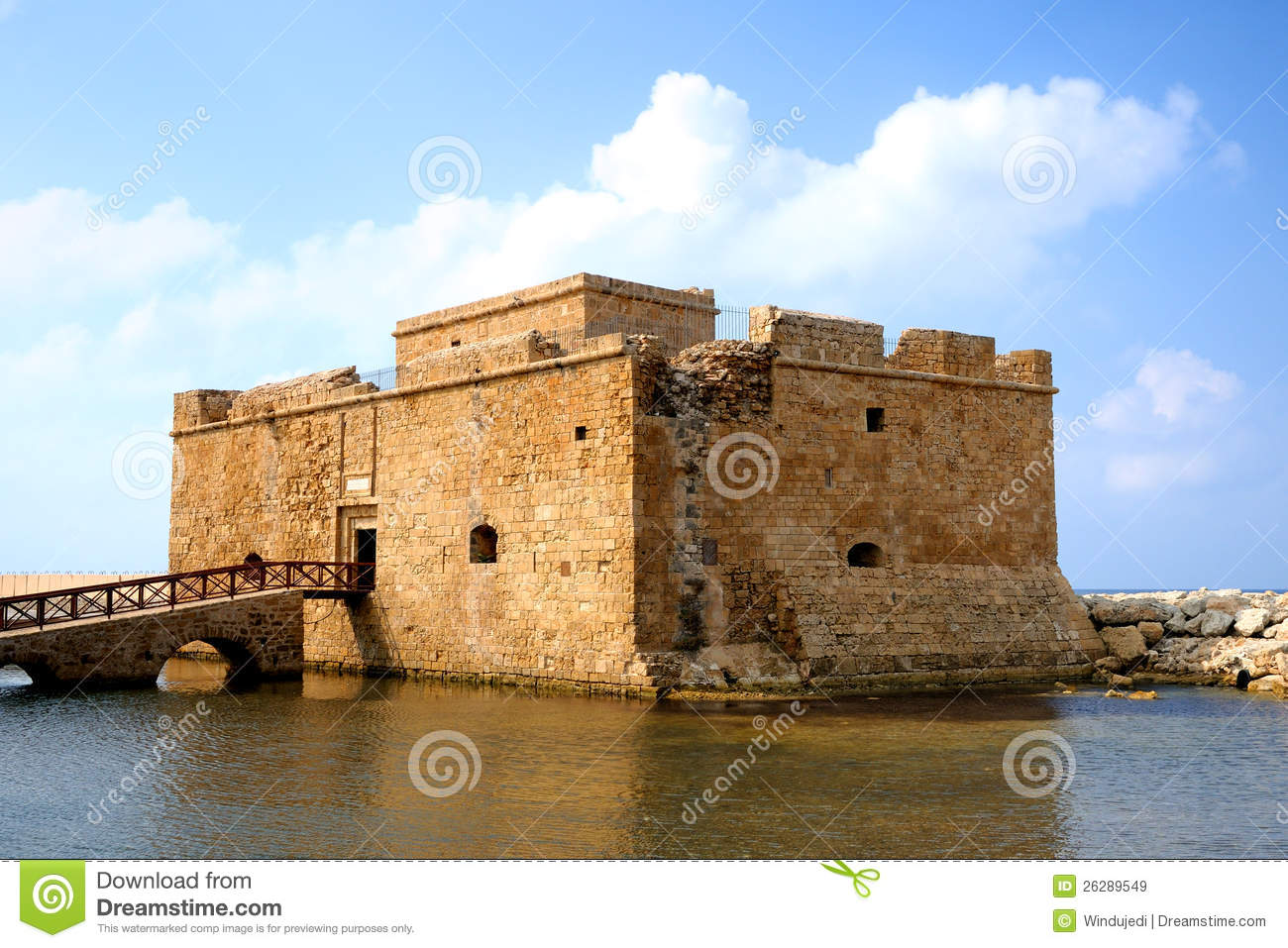 Old Fort In City Of Paphos Royalty Free Stock Images   Image  26289549