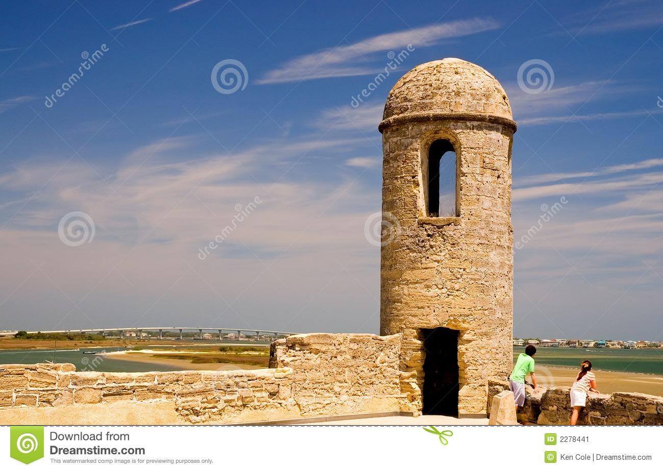 Old Fort Wall And Turret Stock Image   Image  2278441
