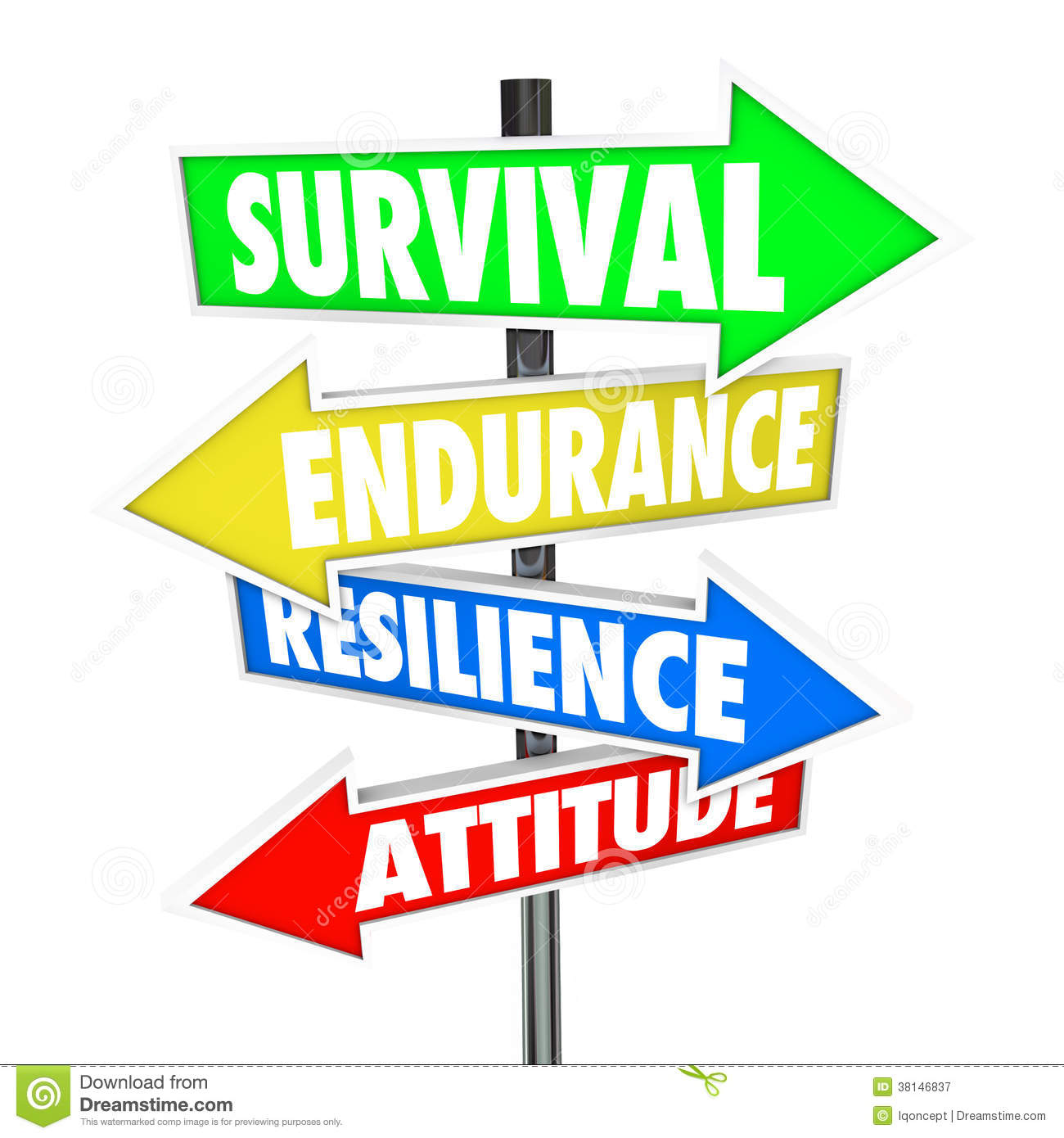 Royalty Free Stock Photography  Survival Endurance Resilience Attitude