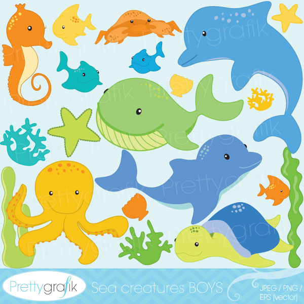 Sea Animal Clipart Sea Animal Clipart     0 99   Prettygrafik
