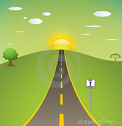 Straight Road Clipart - Clipart Suggest