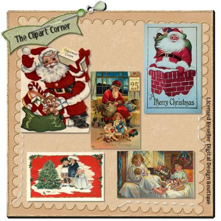 Vintage Christmas Grab Bag 2   The Clipart Corner Clipart For Digital