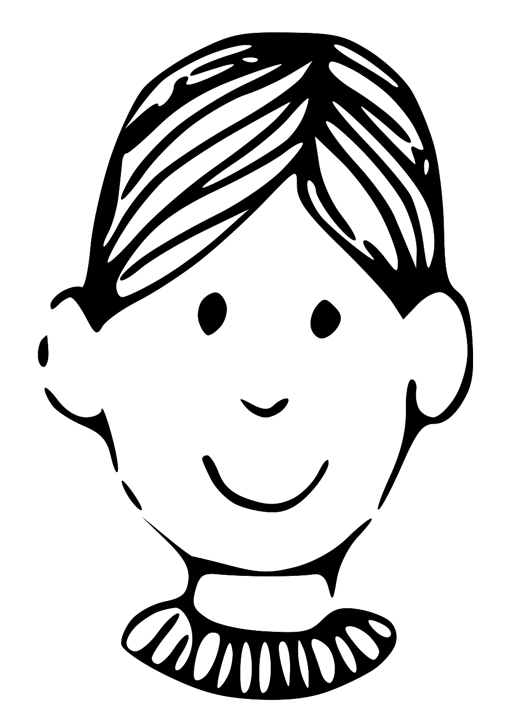 Boy Face Clipart Colouring Pages  Page 2