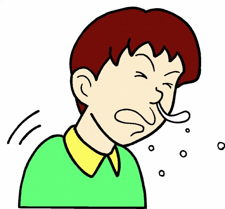 Child Coughing Clip Art Child Sneezing