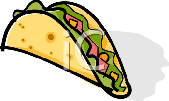 Clip Art Picture Of A Taco   Foodclipart Com