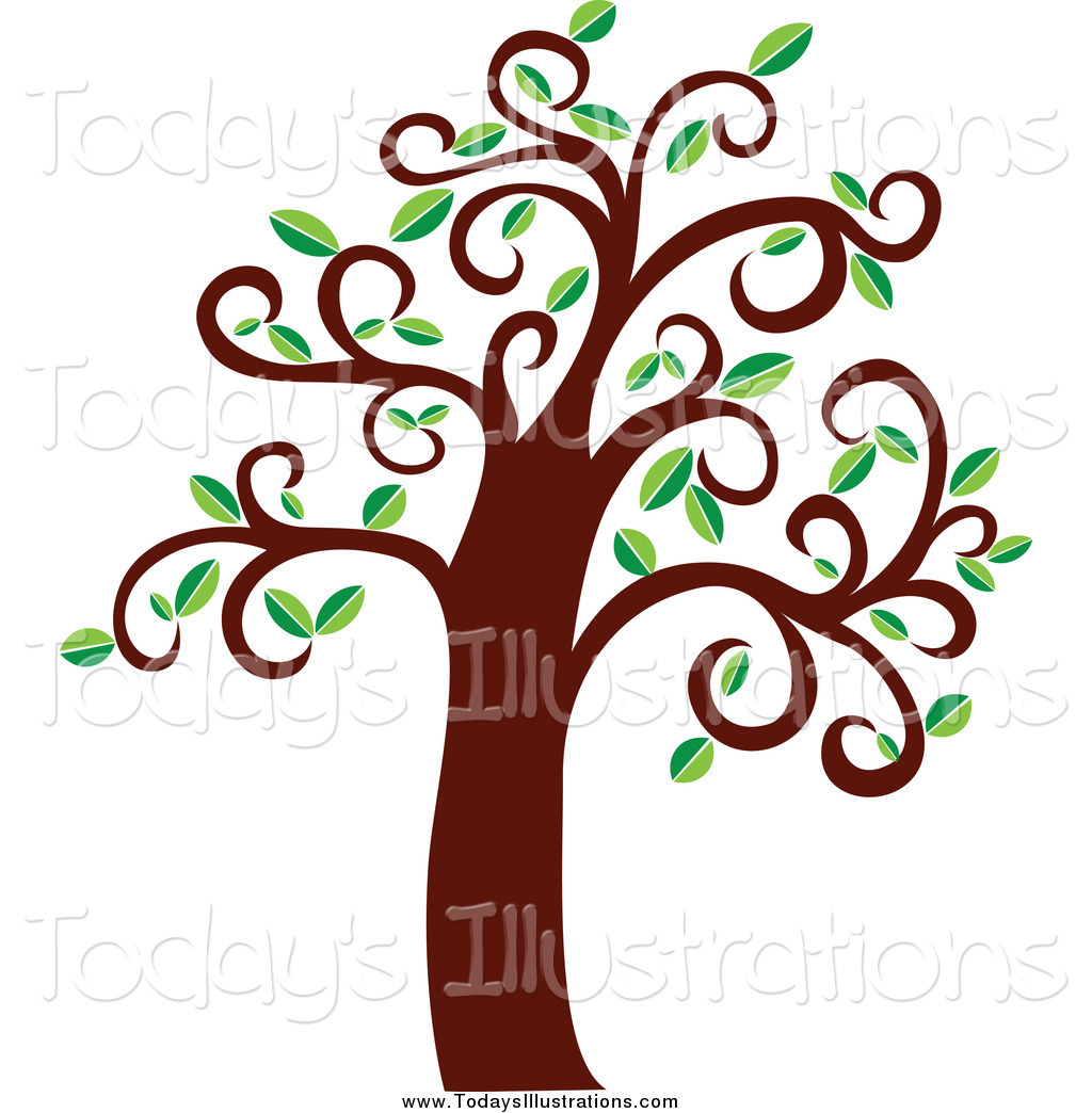 Clipart Of A Tree With Curly Branches By Seamartini Graphics    5099