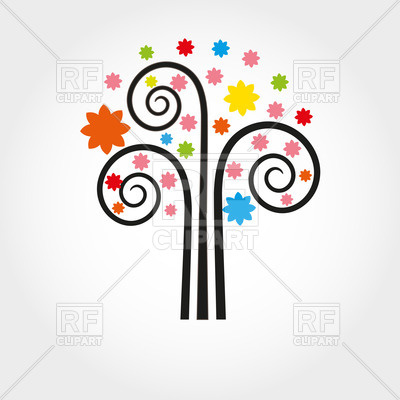Curly Spring Stylish Tree Download Royalty Free Vector Clipart  Eps