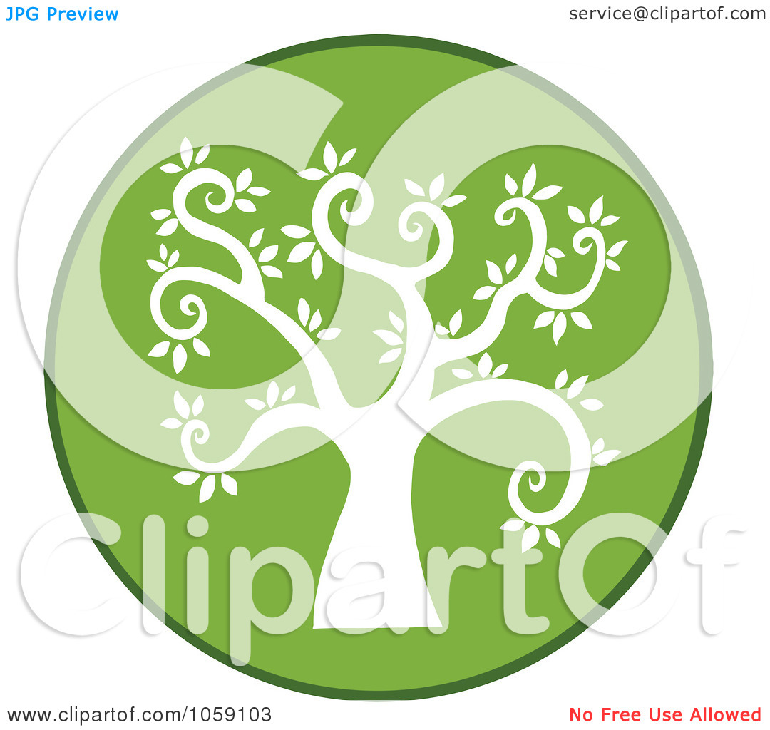 Free Vector Clip Art Illustration Of A Curly Branched Tree Logo   9