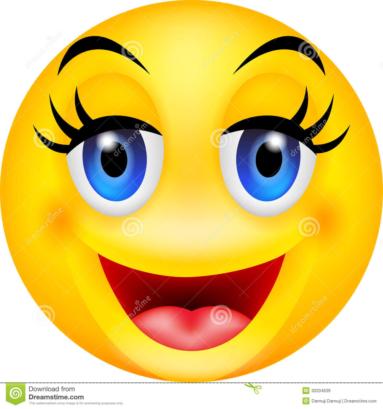 Funny Smile Emoticon Royalty Free Stock Images   Image  30334639