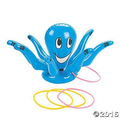 Inflatable Smiling Octopus Ring Toss Game   Oriental Trading