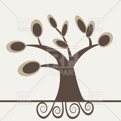 Simple Cartoon Tree With Curly Roots Plants And Animals Download
