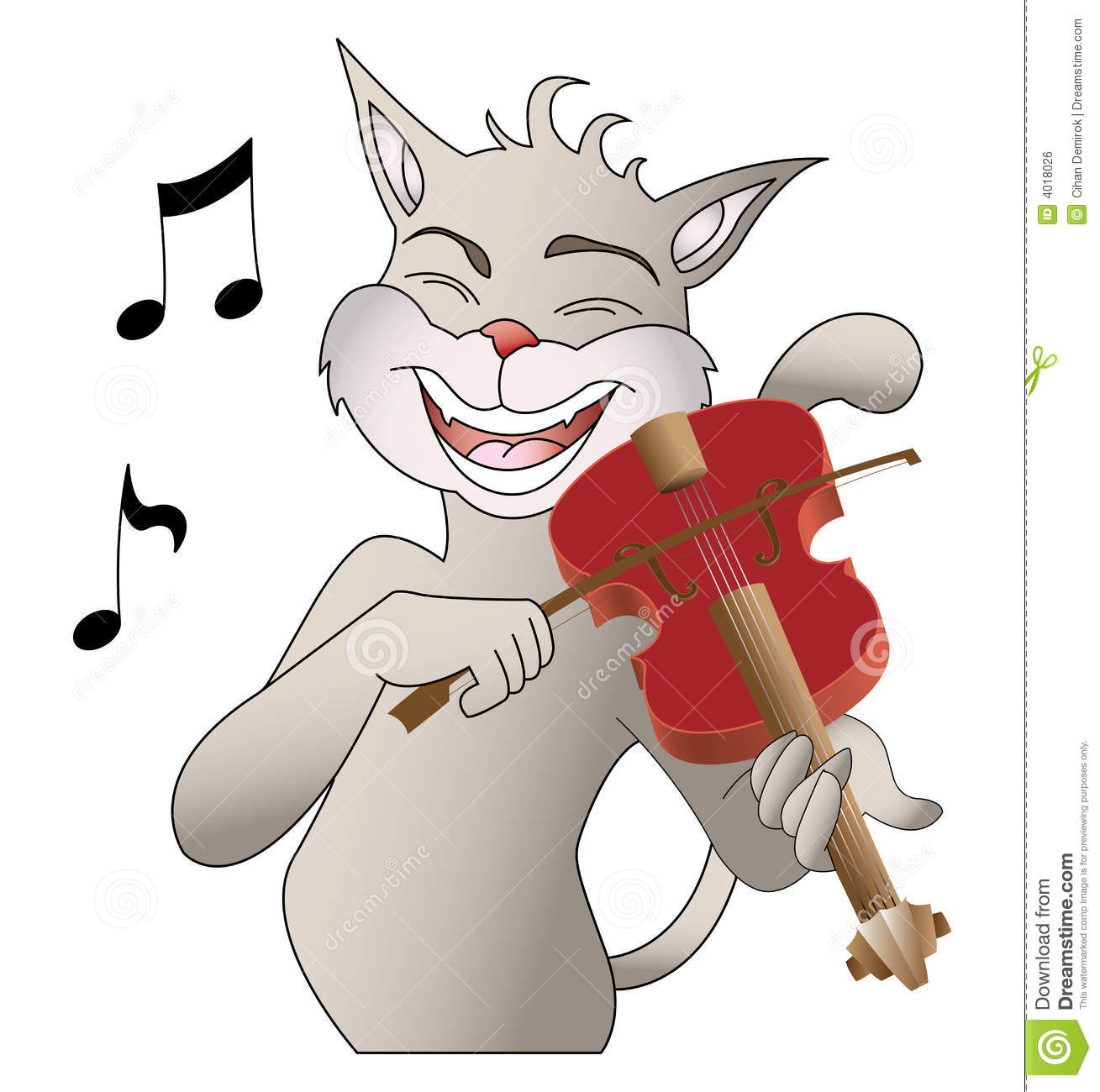 Singing Cat Royalty Free Stock Image   Image  4018026