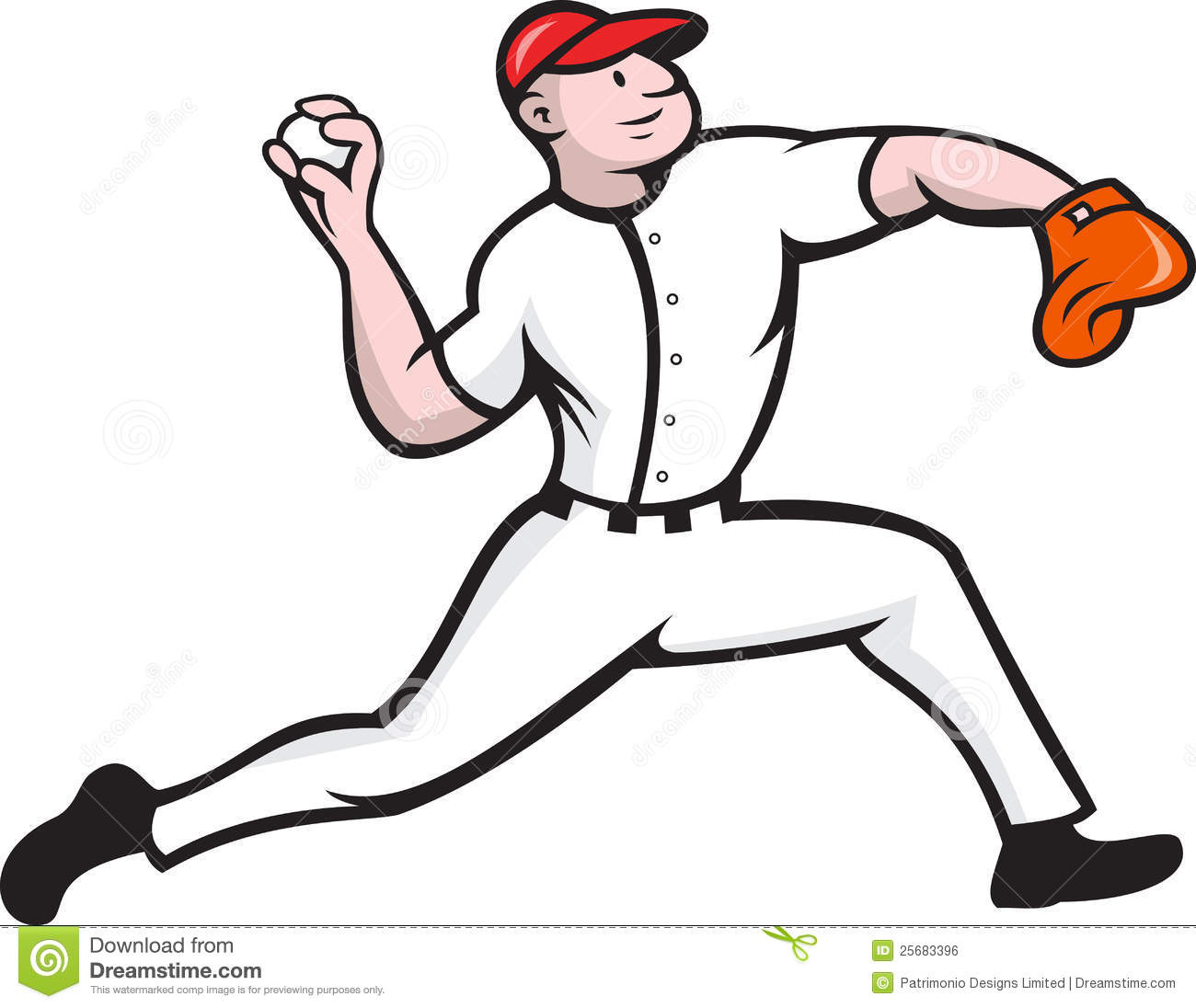 Throwing Baseball Clipart   Free Clipart