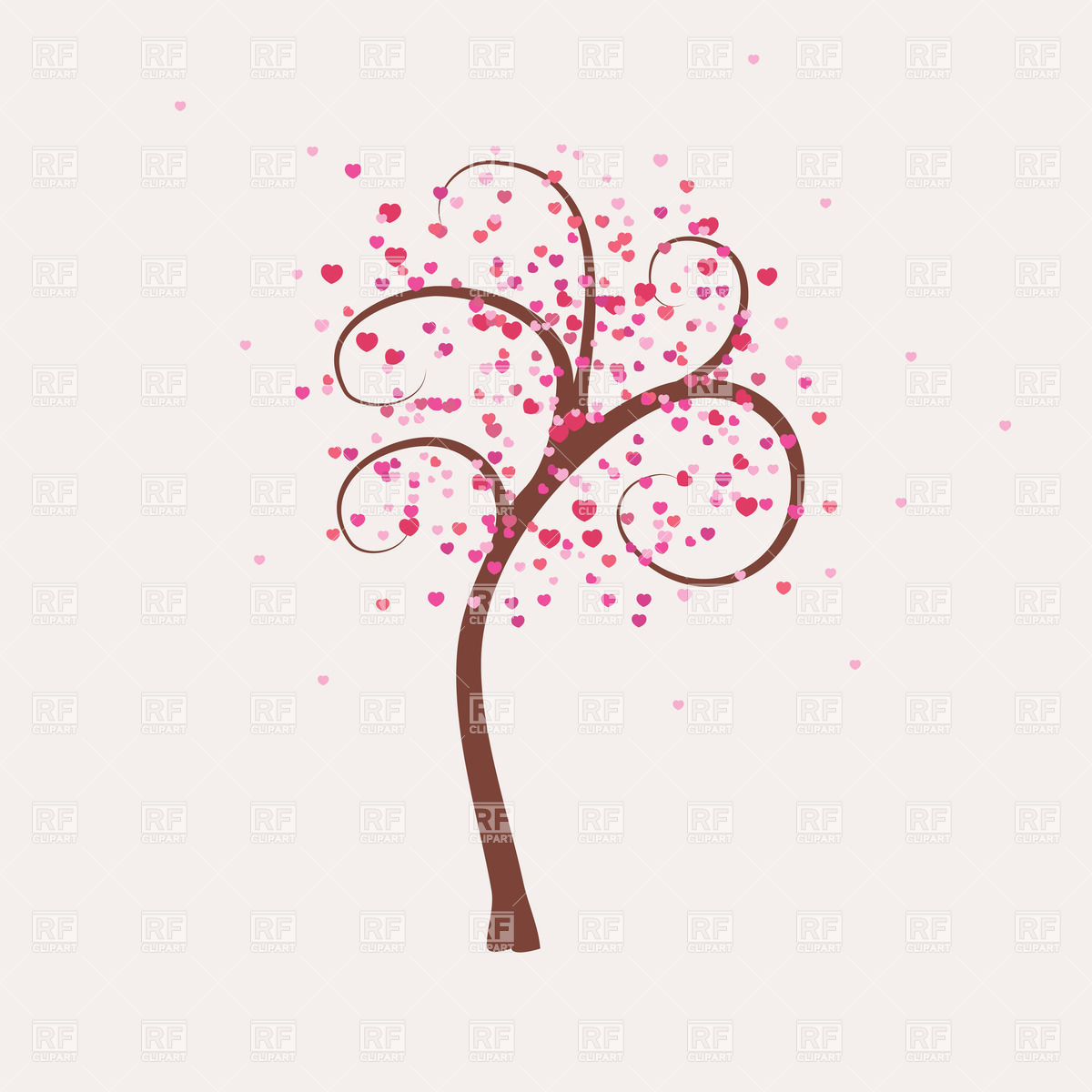 Tree With Curly Branches Download Royalty Free Vector Clipart  Eps
