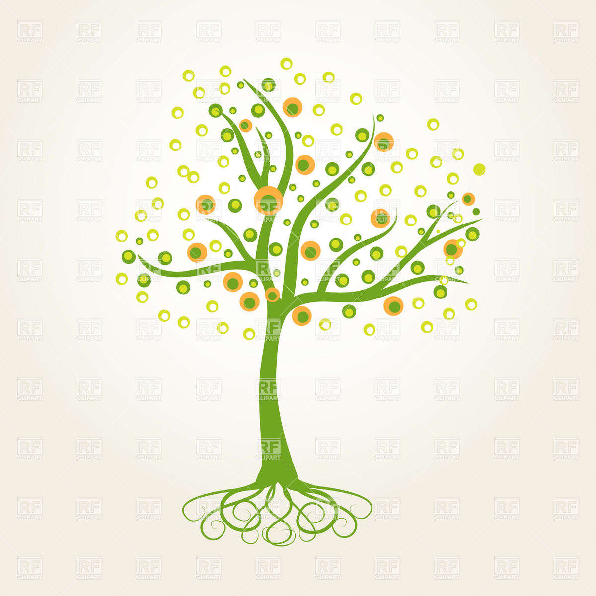 Tree With Curly Roots 22187 Download Royalty Free Vector Clipart