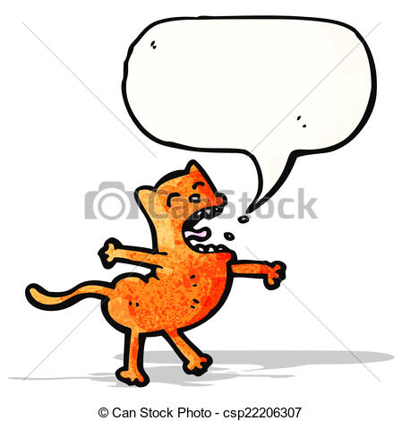 Vector Clipart Of Cartoon Singing Cat Csp22206307   Search Clip Art