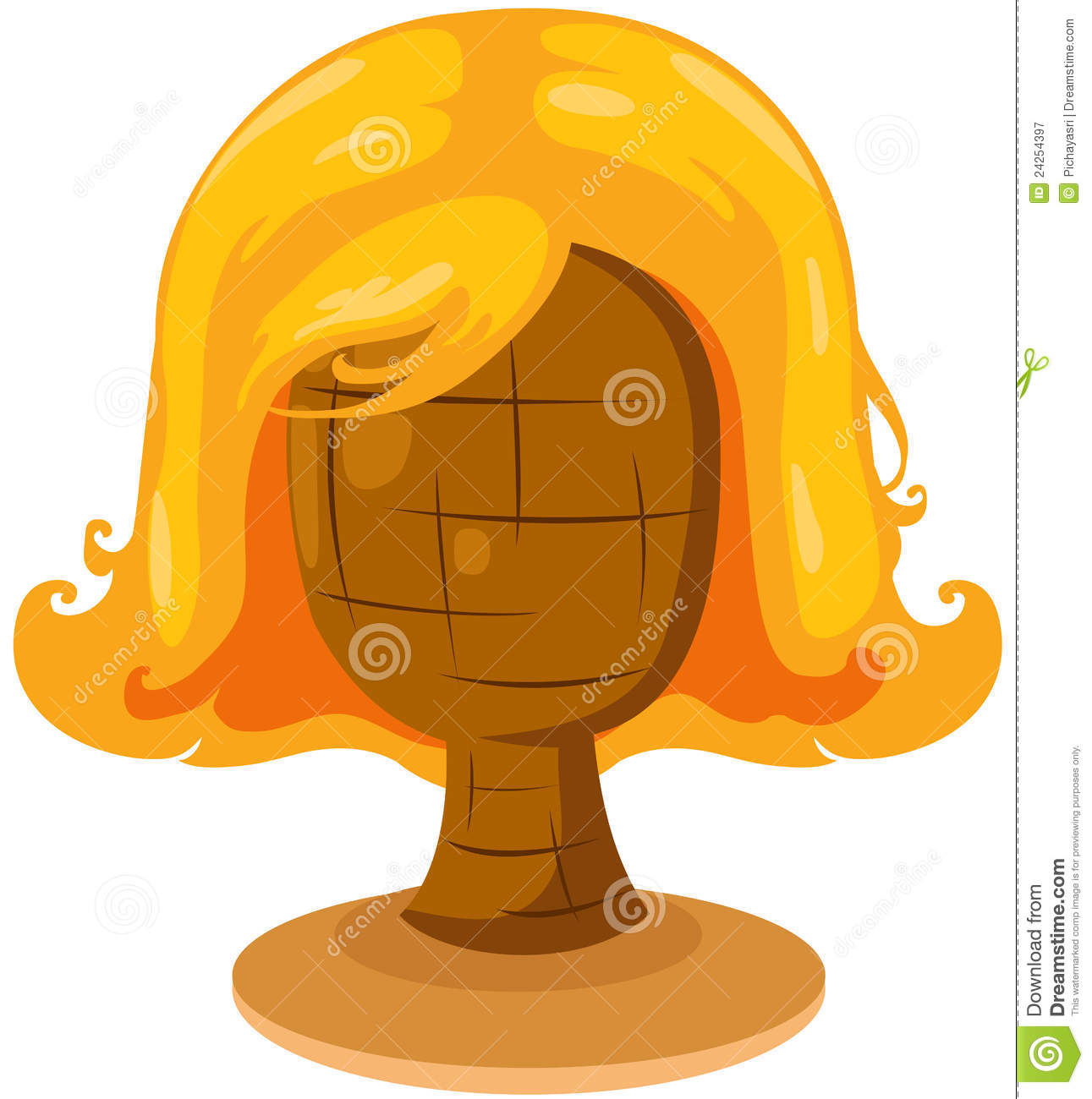 Blonde Wig Clipart - Clipart Kid