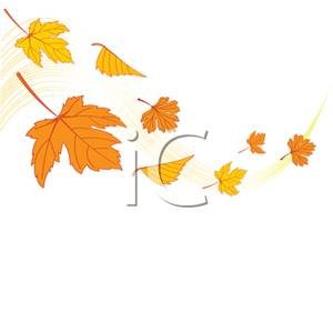 In the Wind Blowing Leaves Clip Art – Cliparts