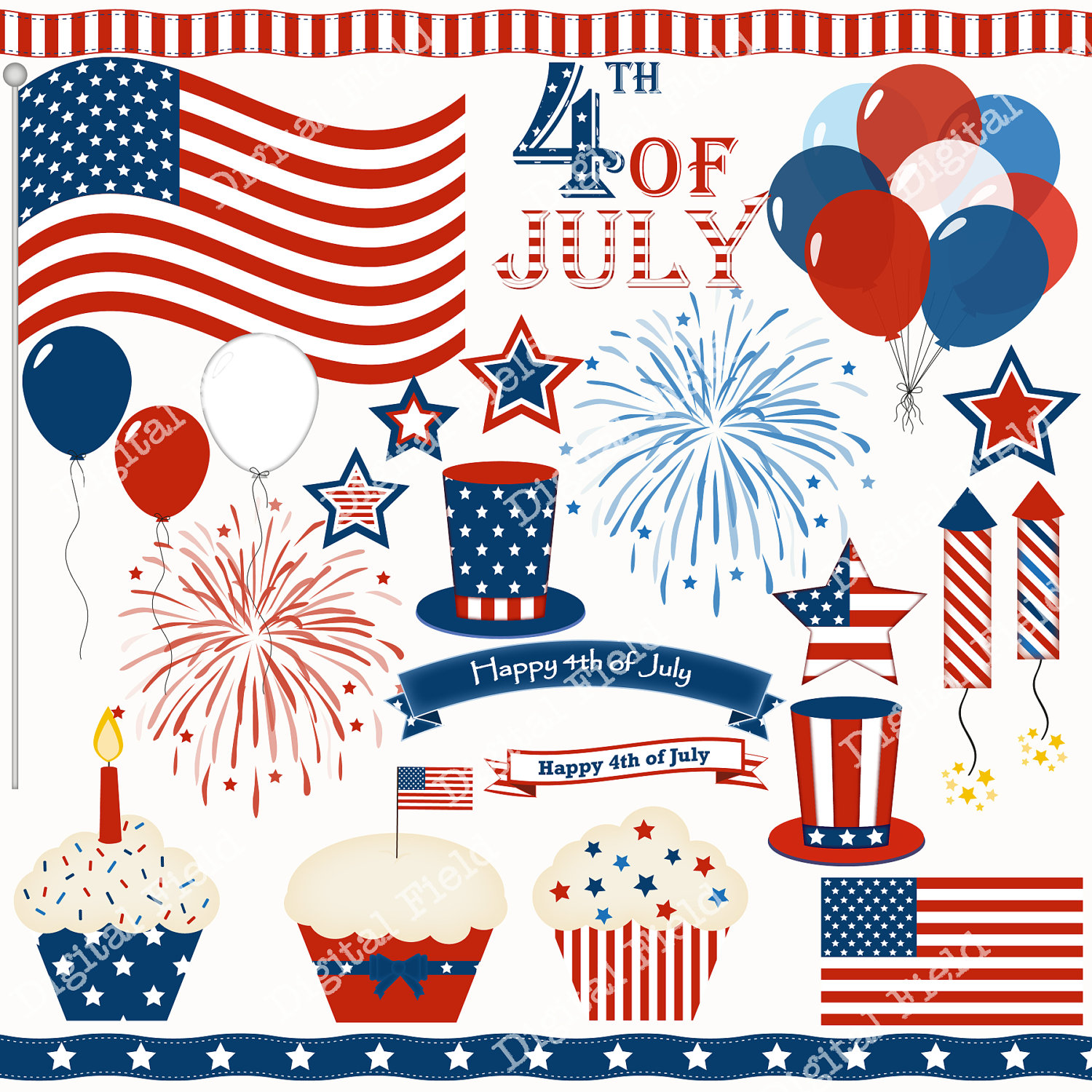 Clip Art 4th Of July Clip Art Pictures 4th of july bbq clipart kid border clip art set