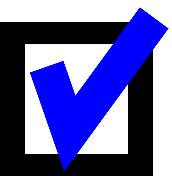 Blue Checkmark With Box Clip Art At Clker Com   Vector Clip Art Online