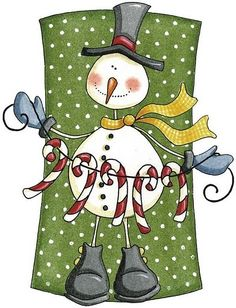 Country Christmas Snowman Clipart Clipart Suggest