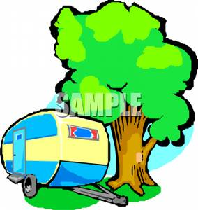 Cartoon Clipart Of Rv Trailers