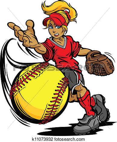 Clipart Of Softball Tournament Art Of A Fastpitch Ball Thrown By Fast