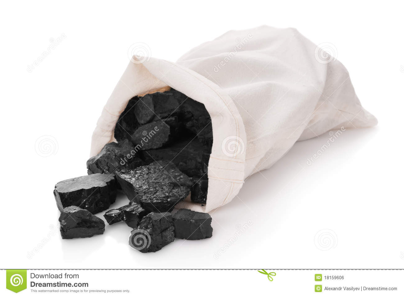 Coal In A Bag Royalty Free Stock Image   Image  18159606