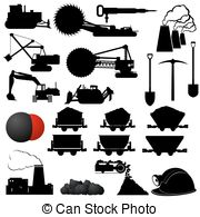 Coal Industry   Set Of Badges And Coal Mining Industry