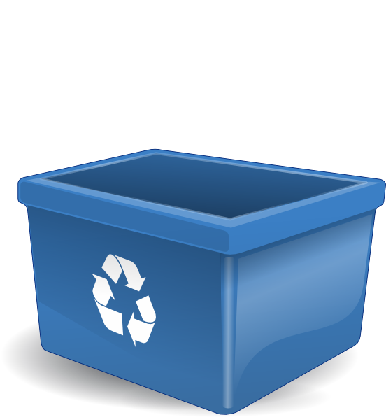 Empty Recycling Box No Words Clip Art At Clker Com   Vector Clip Art
