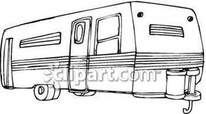 Family Camping Trailer Clipart Clip Art Picture Of A Camper