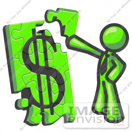 Finance Clipart 36639 Clip Art Graphic Of A Lime Green Guy Character