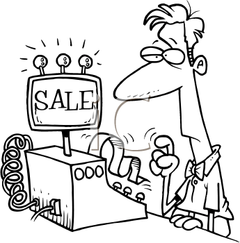 Cash Register Black And White Clipart Clipart Suggest