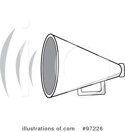 Megaphone Clipart Illustration By Pams Clipart   Stock Sample  97226