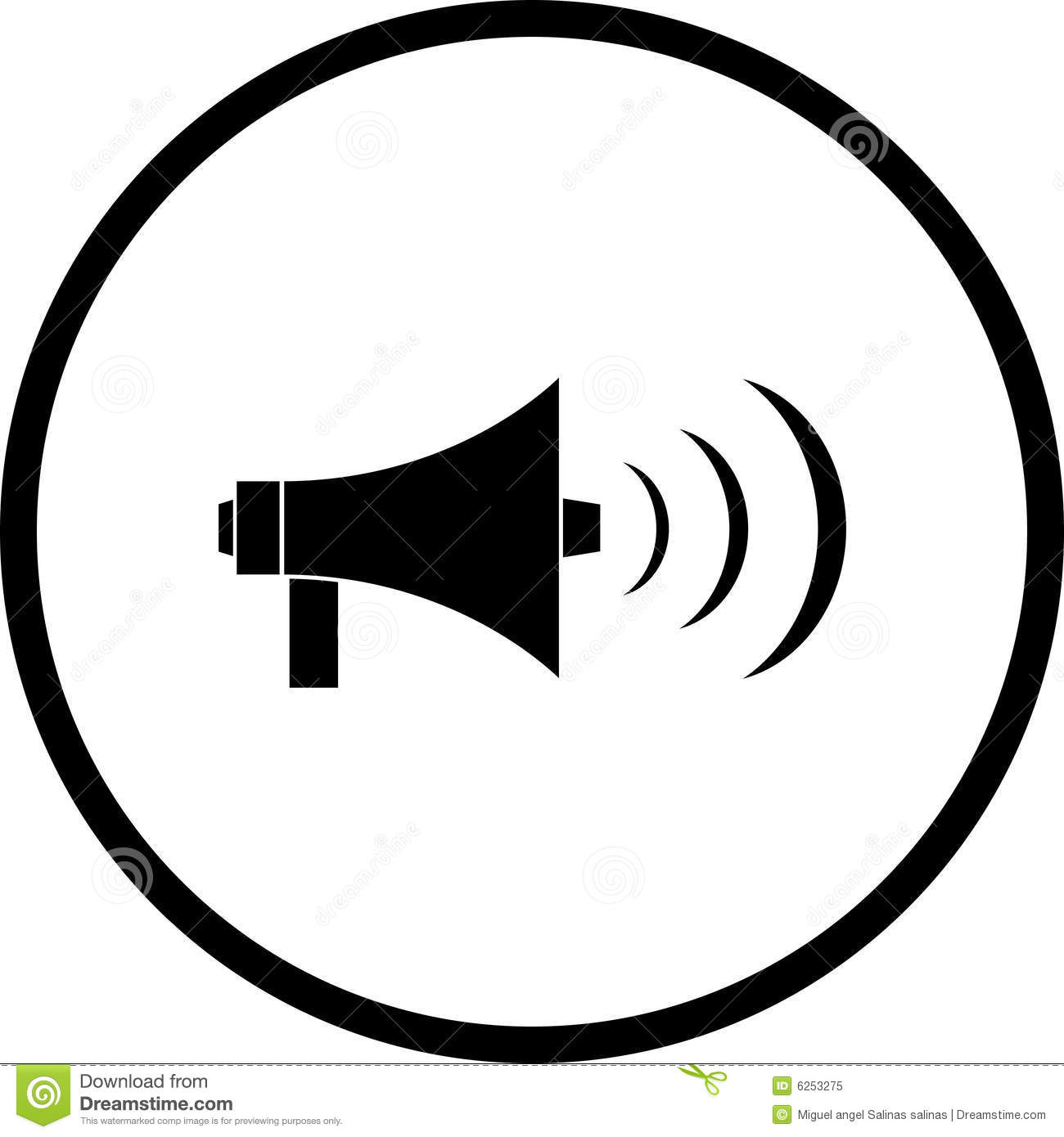 Megaphone Or Bullhorn Symbol Royalty Free Stock Photo   Image  6253275
