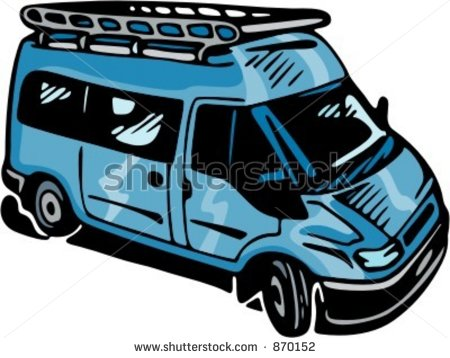 Mini Bus Clipart