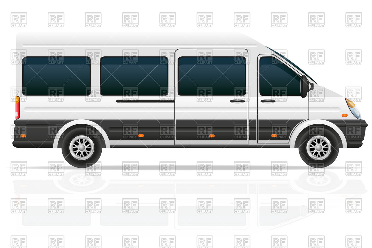 Mini Bus For The Carriage Of Passengers Download Royalty Free Vector