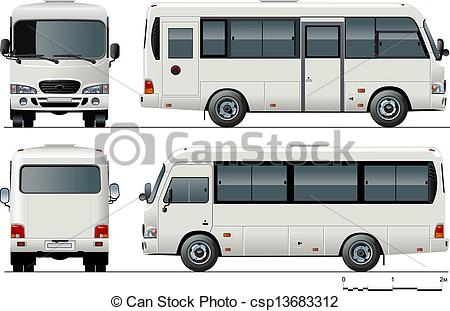Mini Bus   Stock Illustratie Royalty Vrije Illustraties Stock Clip