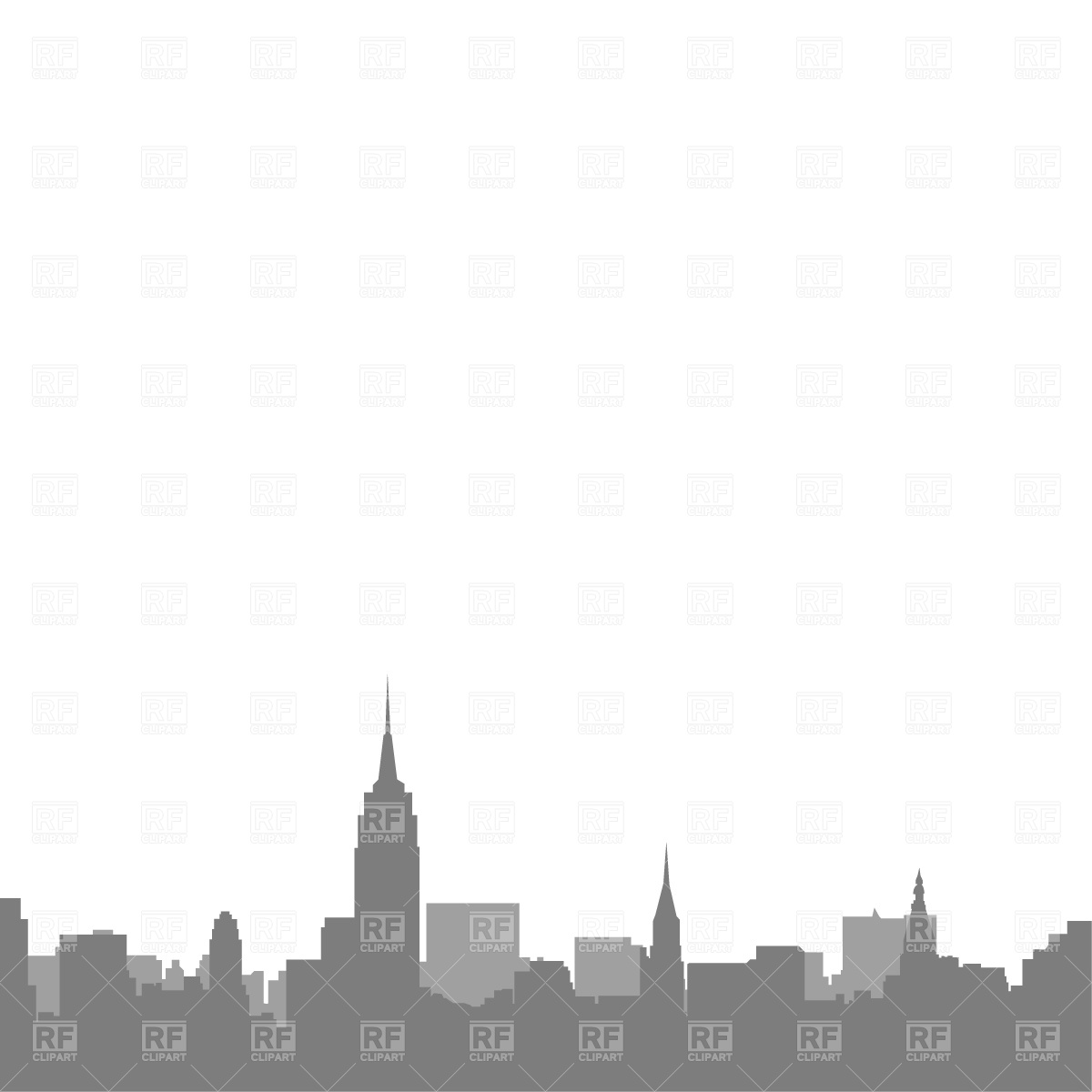 New York City Skyline Download Royalty Free Vector Clipart  Eps