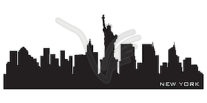 New York City Skyline Silhouette Clip Art Clipart   Free Clipart