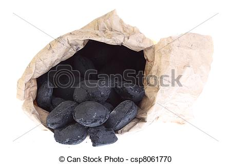 Of Sack Bag Isolated Coal Carbon Nuggets   Sack Bag   Coal
