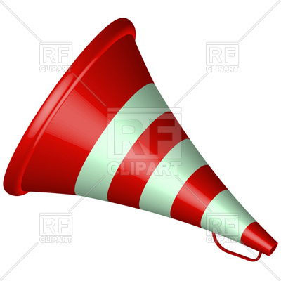 Old Bullhorn Red Icon Download Royalty Free Vector Clipart  Eps
