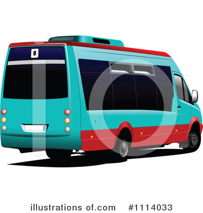 Royalty Free  Rf  Bus Clipart Illustration By Leonid   Stock Sample
