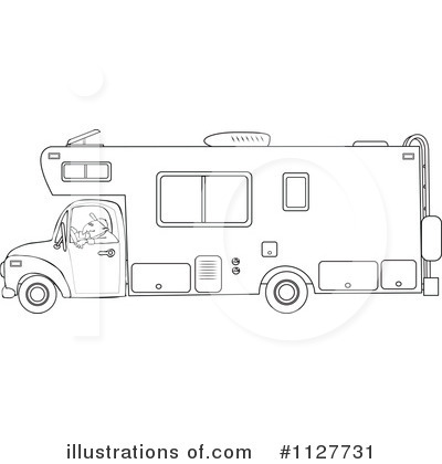 Royalty Free  Rf  Camper Clipart Illustration By Djart   Stock Sample