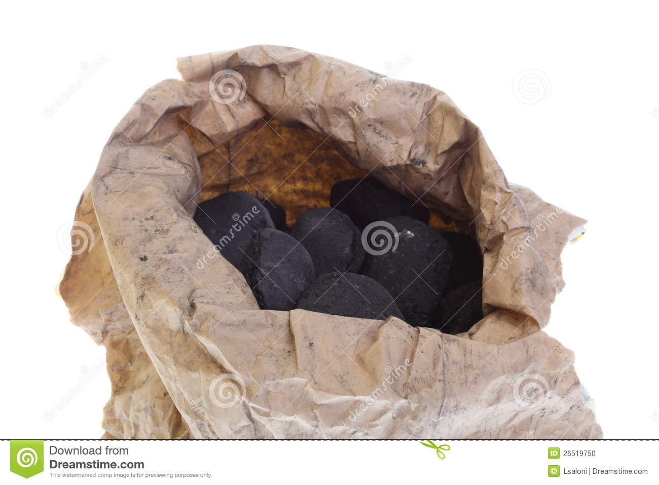 Sack Bag Isolated Coal Carbon Nuggets Stock Photo   Image  26519750