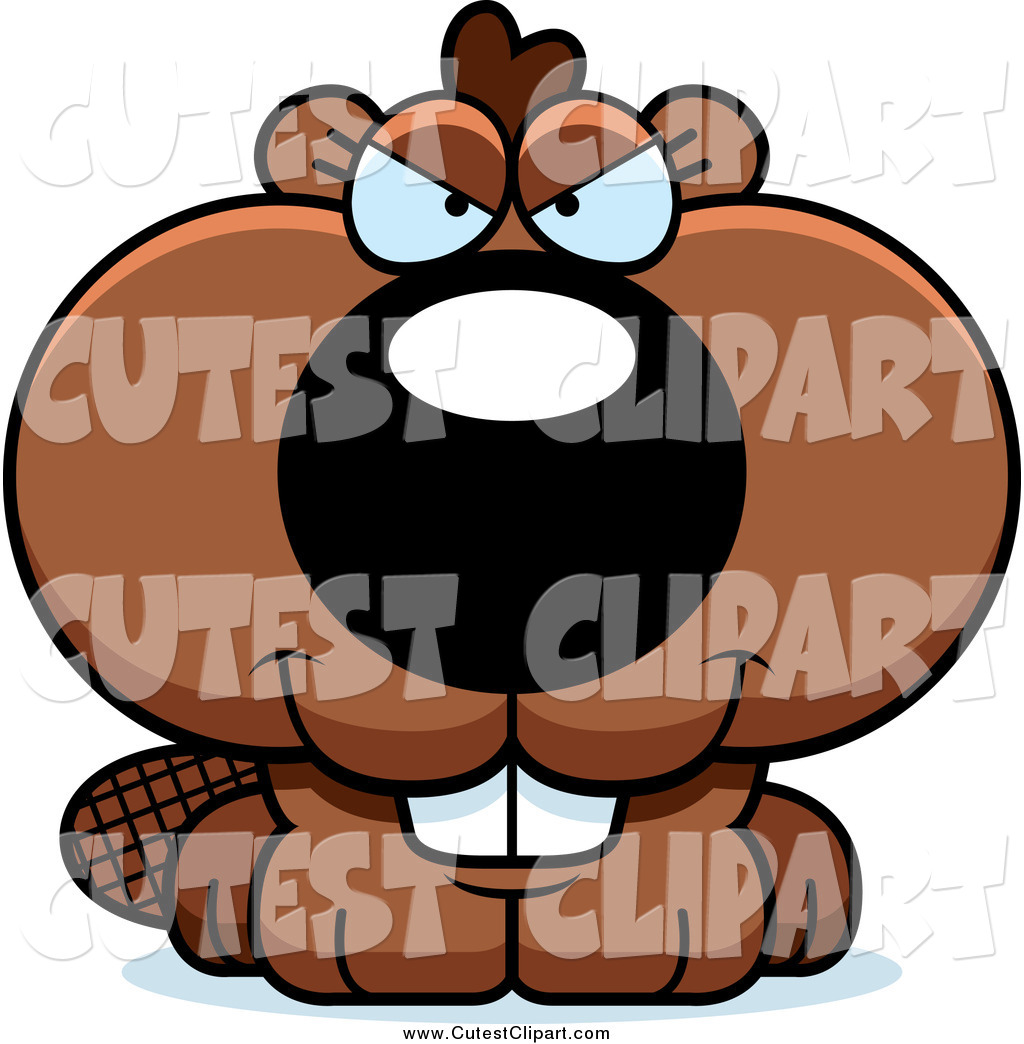 Vector Clip Art Of A Sly Beaver Making An Evil Face By Cory Thoman